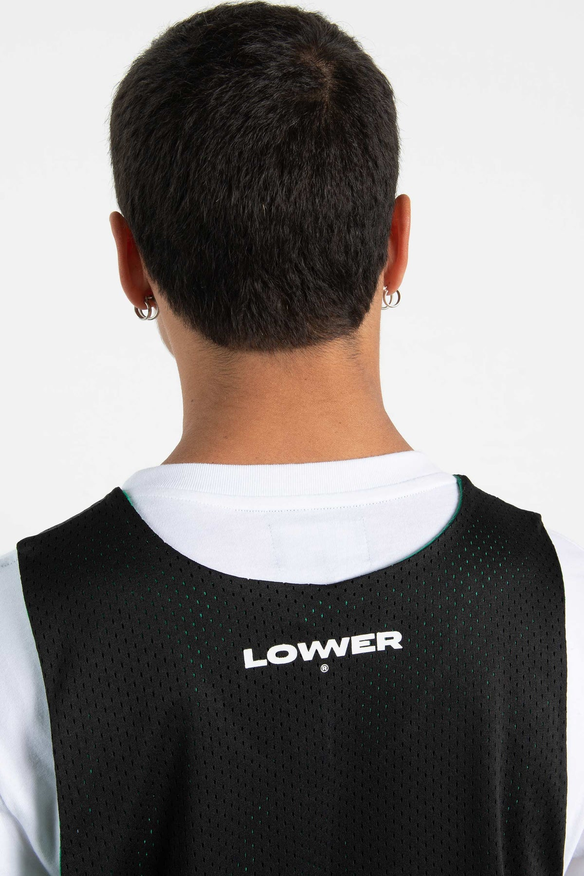 Mens Baller Singlet - Low Ball - Black/Green