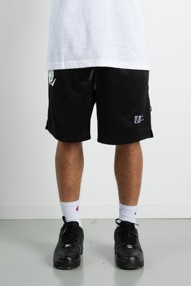Mens Snell Shorts - Low Ball - Black