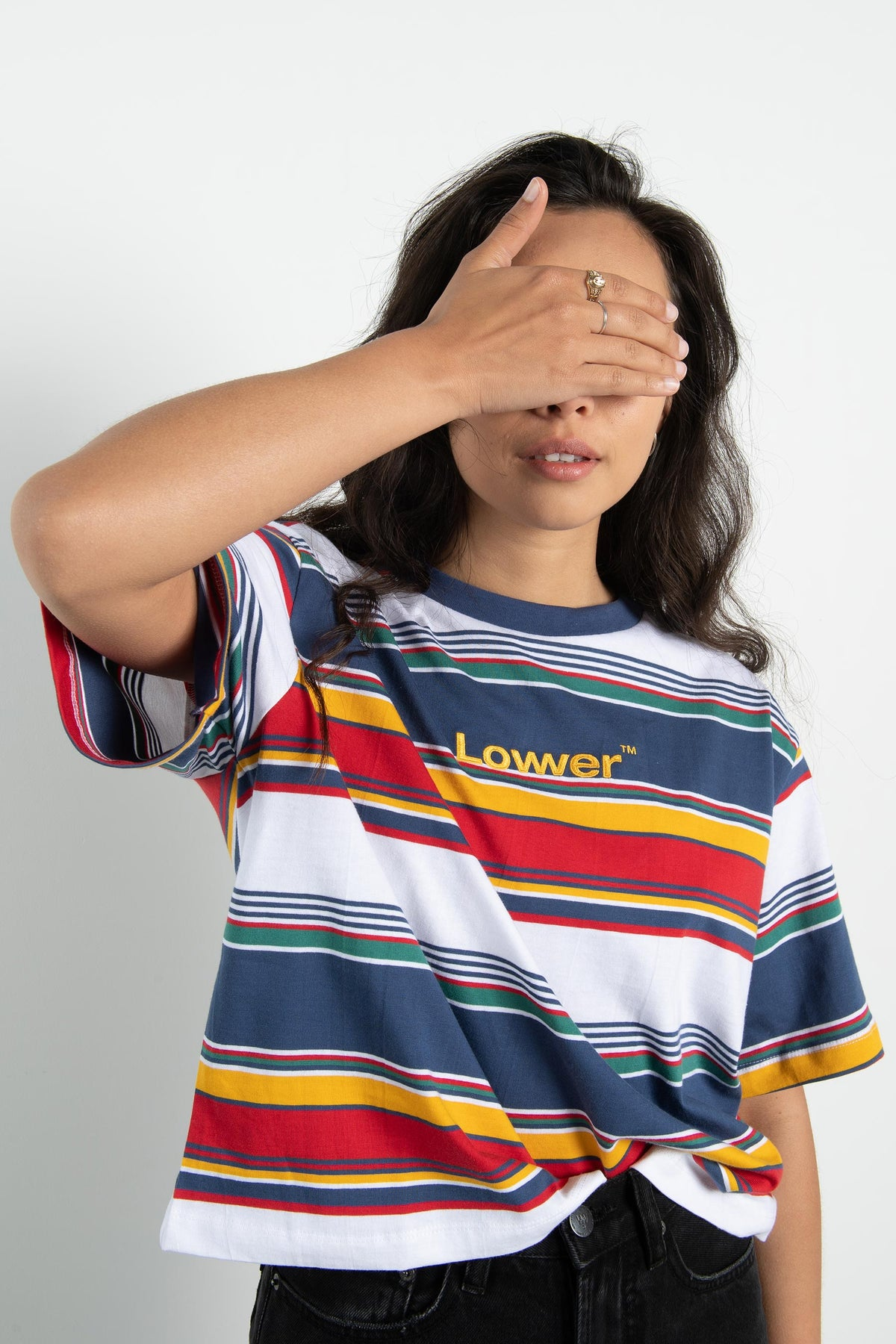 Womens Cropped Tee - Lowercase - Multi