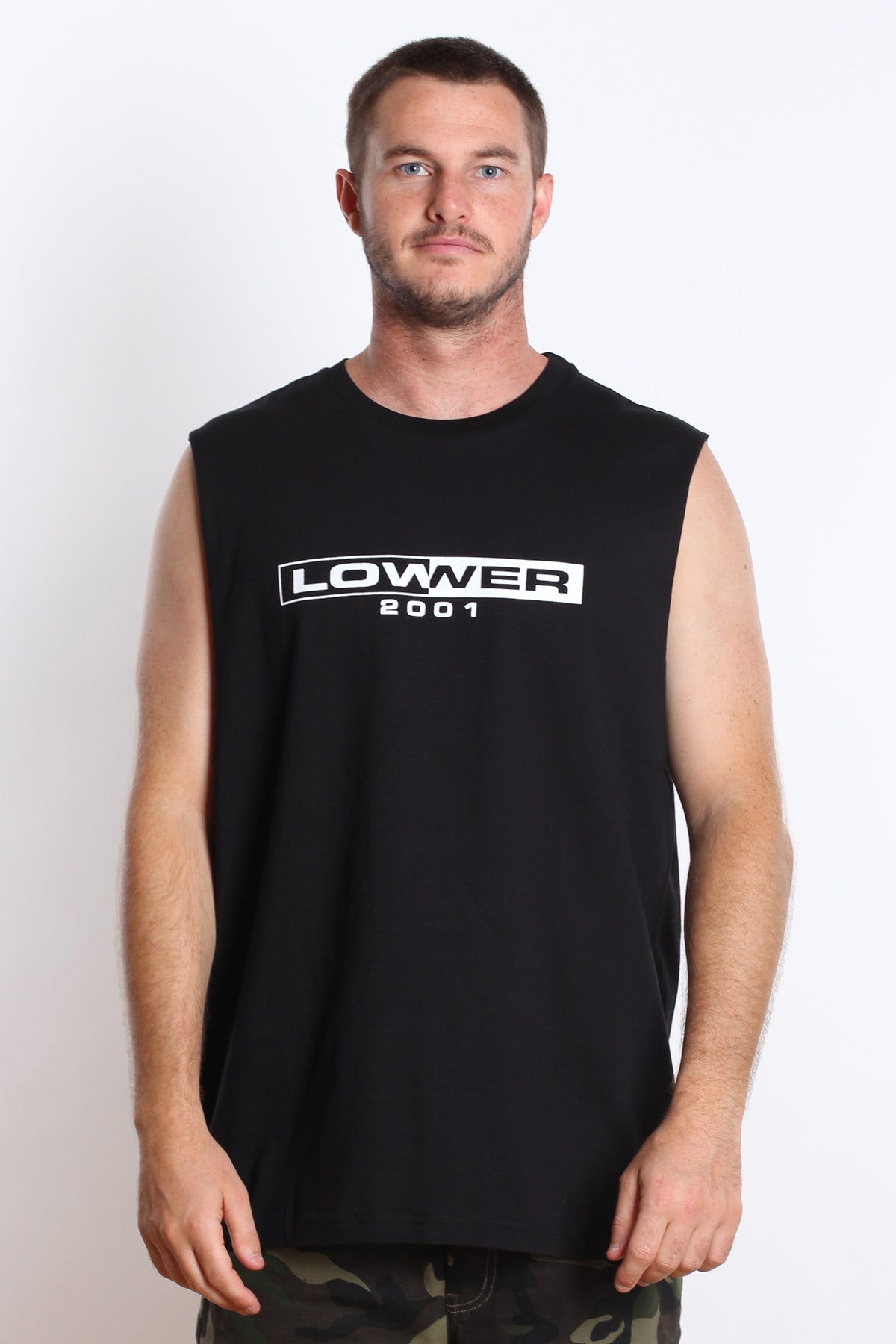 Luchini Cut Tank - Black