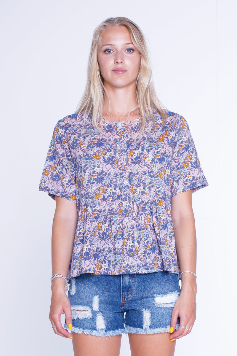 Womens Lylah Top - Pink floral