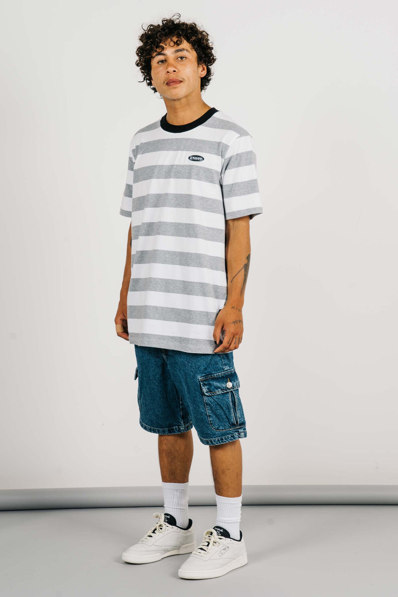Rail Tee - Apple Patch - Grey/White
