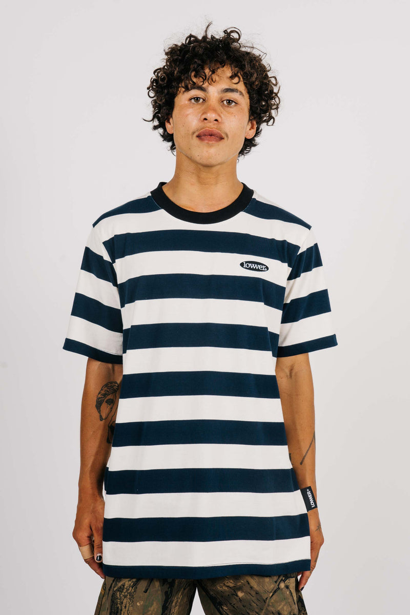Rail Tee - Apple Patch - Navy/Cream