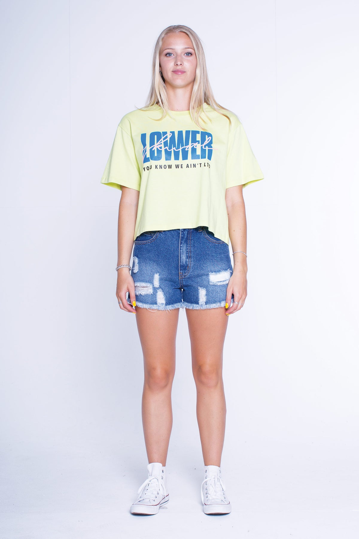 Womens Cropped Tee - Mack - Frozen Yellow