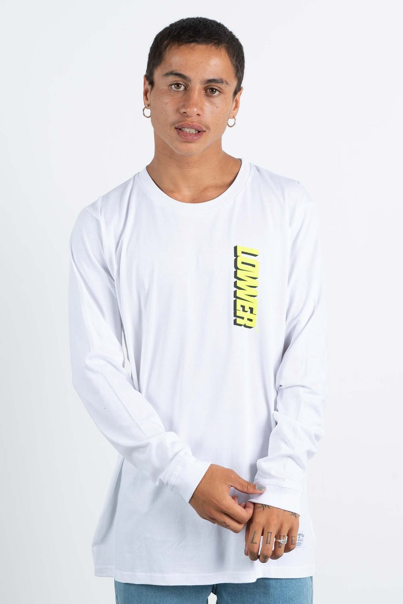 Mens QRS L/S Tee - Giants 2.0 - White