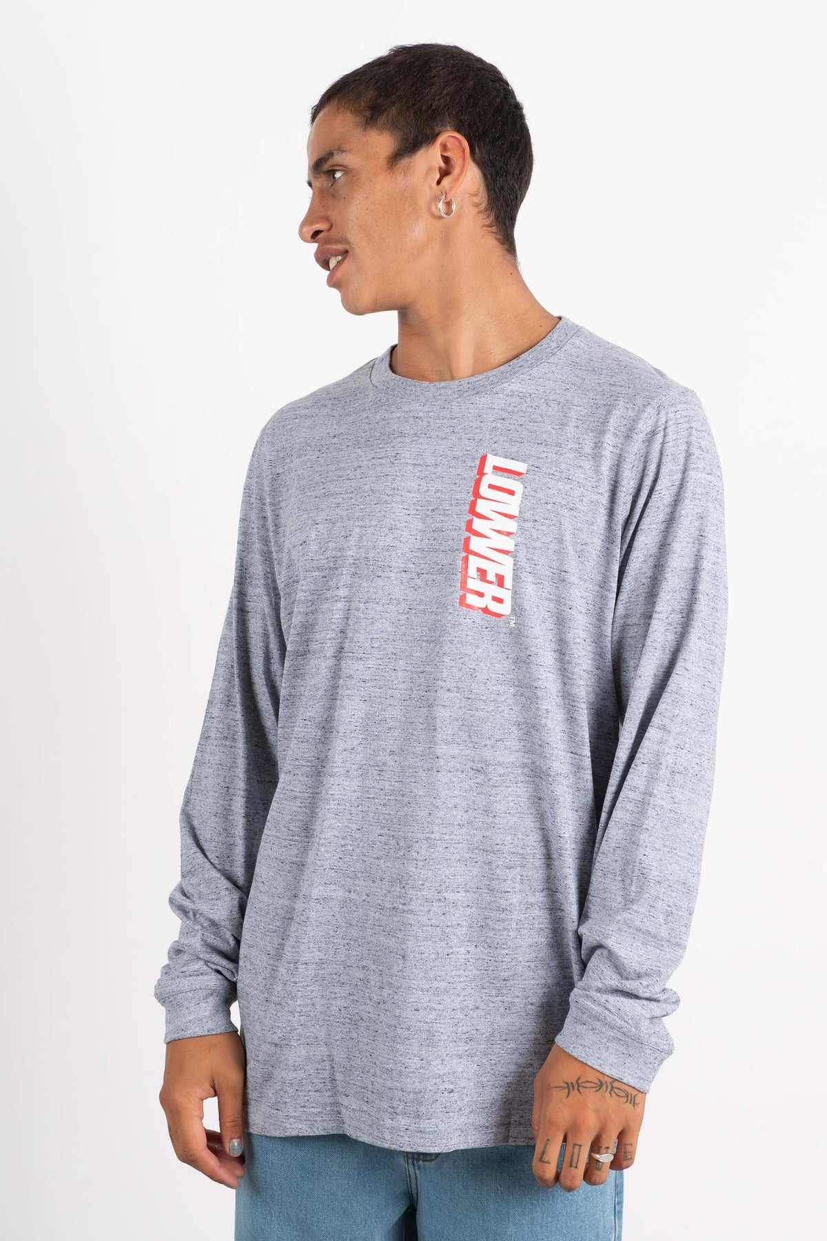 Mens QRS L/S Tee - Giants 2.0 - Grey