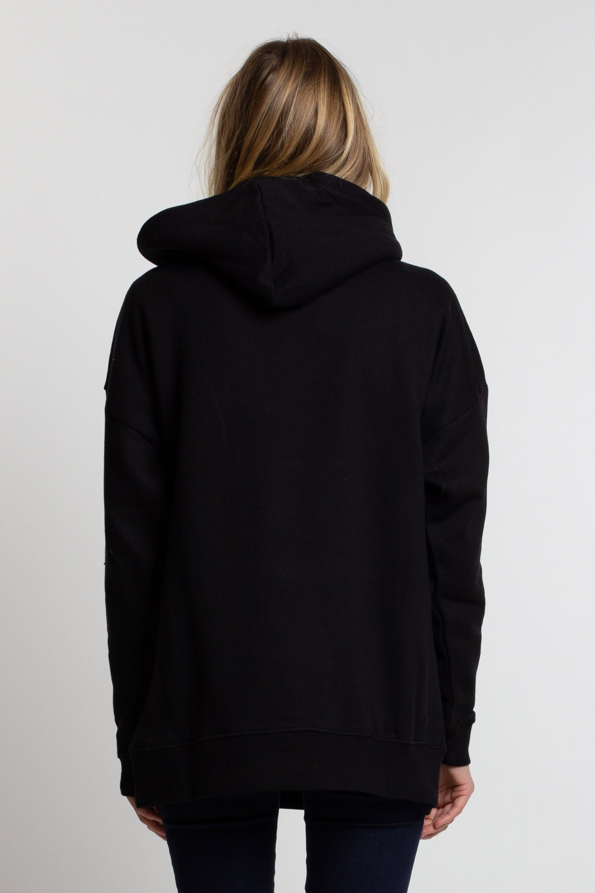 OE Triple Double Slouchy Hood - Black