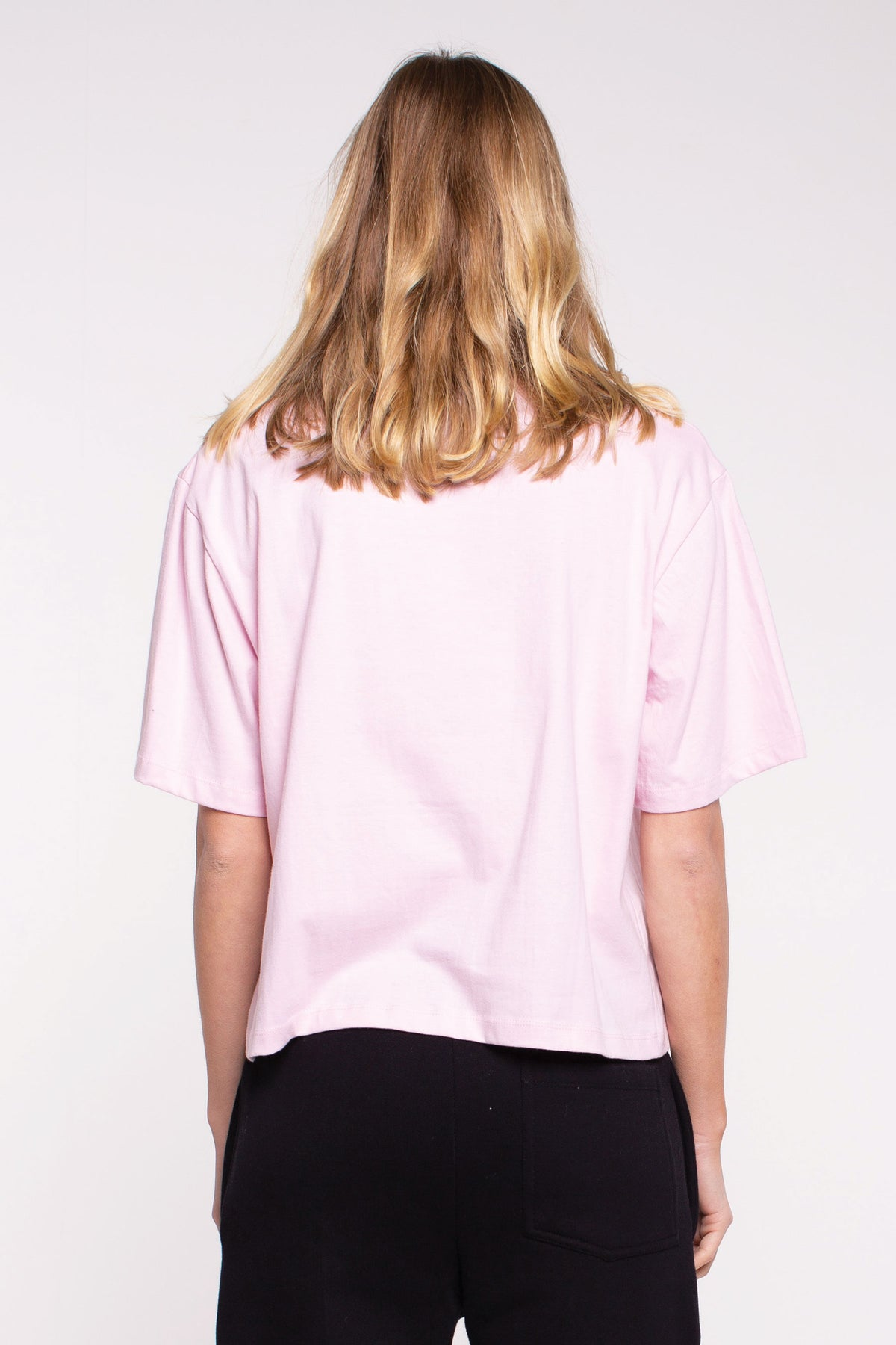 Oasis Cropped Tee - Pink