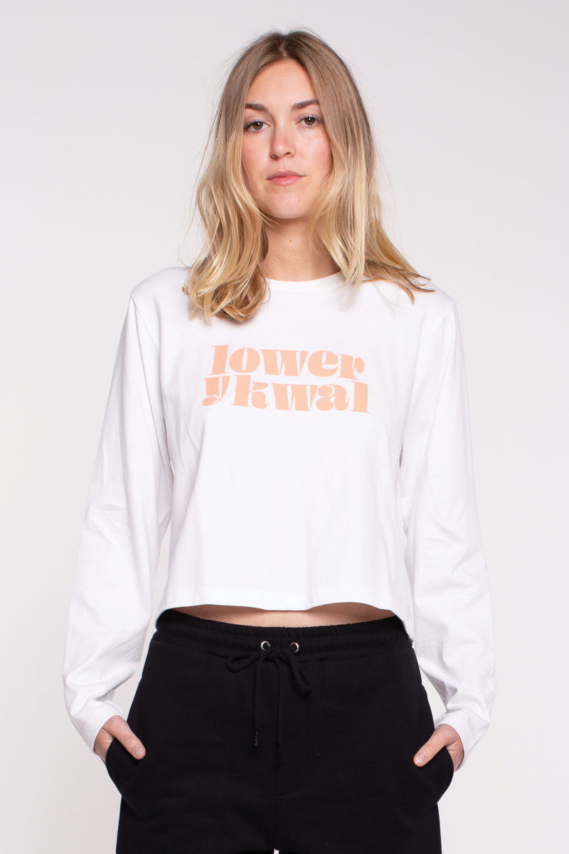 Oasis Cropped L/S Tee - White