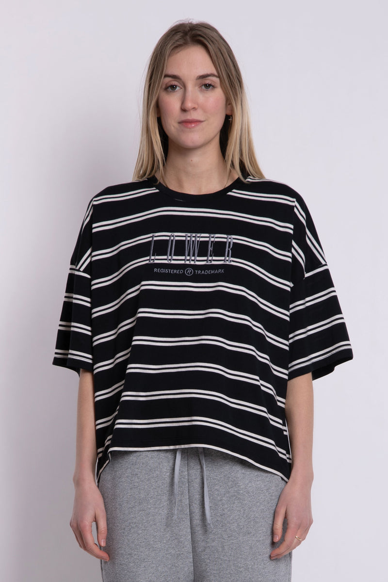 Matilda Oversized Tee - Black/White