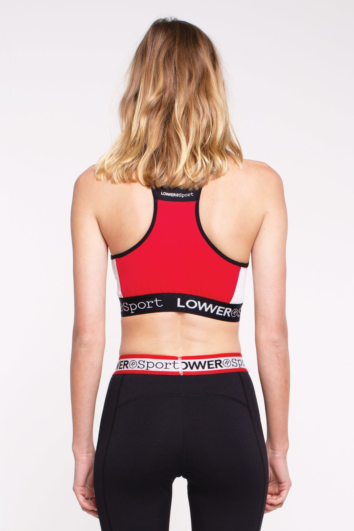 Panel Sports Bra - Red/Black