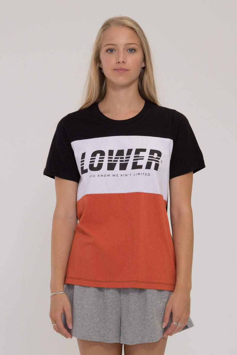 Ergo Panel Tee - Black/White/Orange