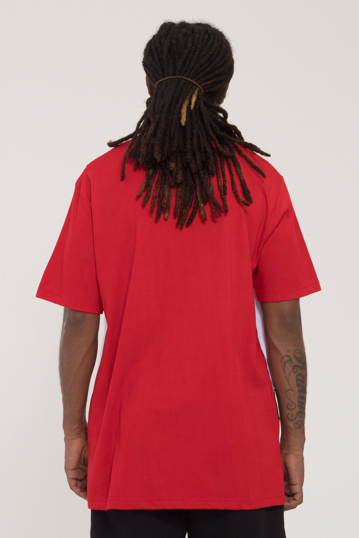 Panel Tee - Red/Navy/White