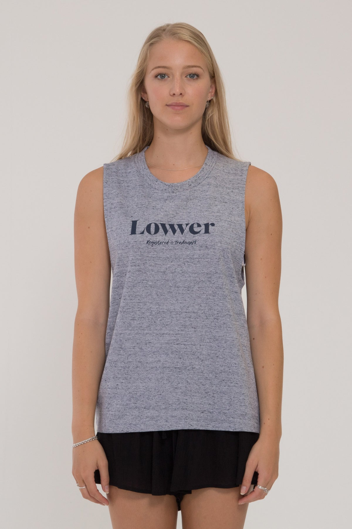 Saturday Parker Tank - Grey Marle