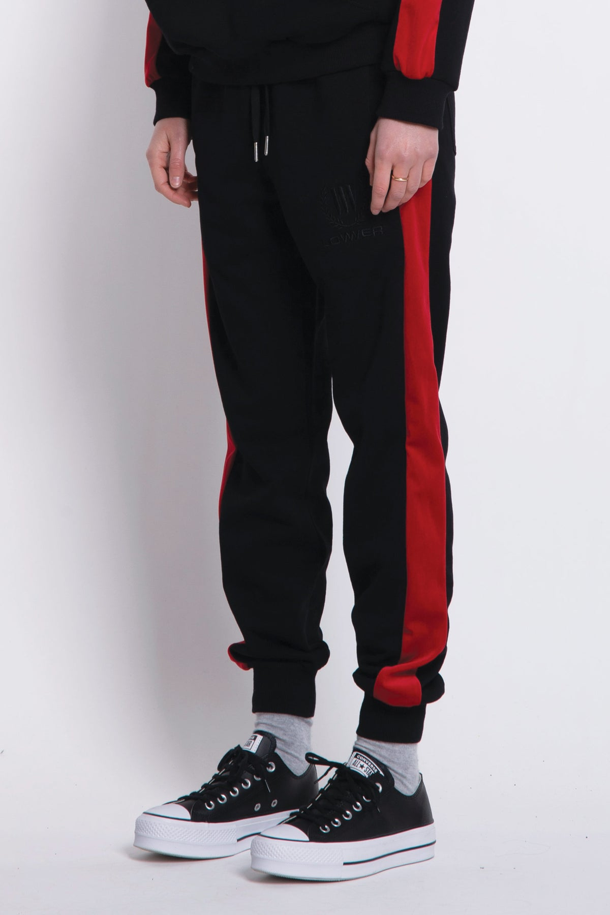 Paloma Track Pants - Black/Red