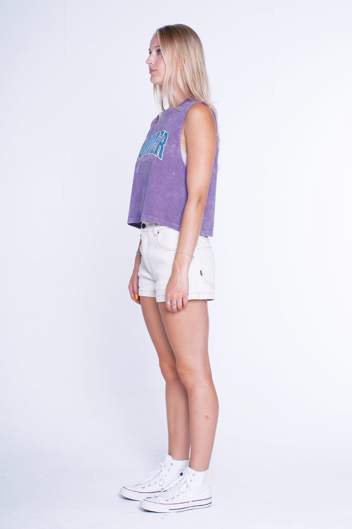 Womens Cropped Tank - Peppa - Grape