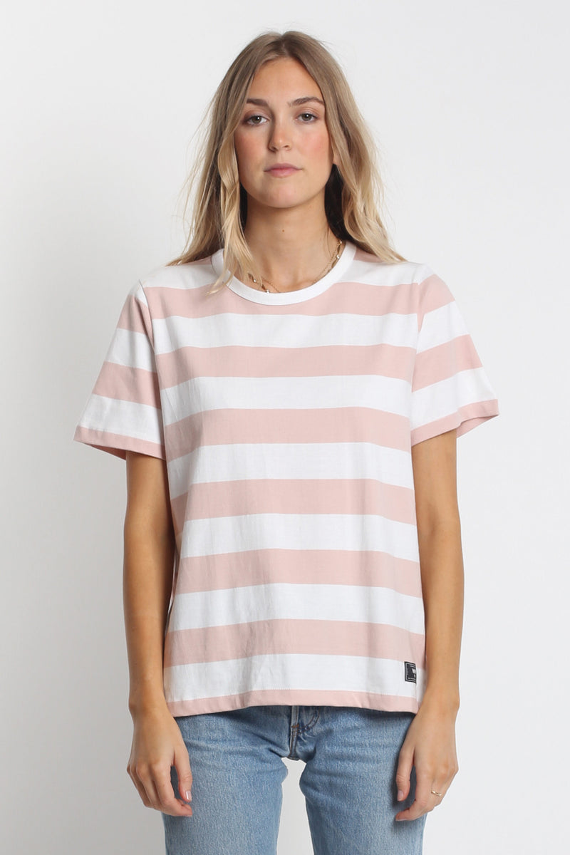 Classic Tee - Pink/White Stripe