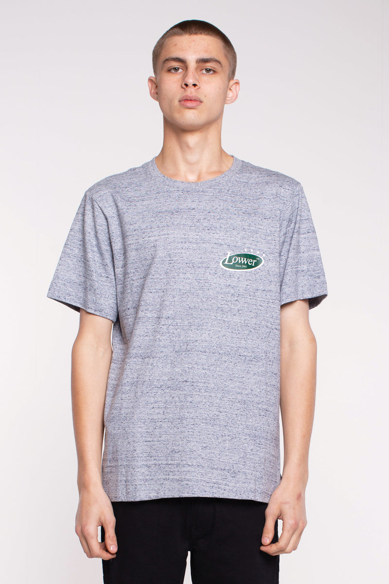 Politicking QRS Tee - Grey Marle
