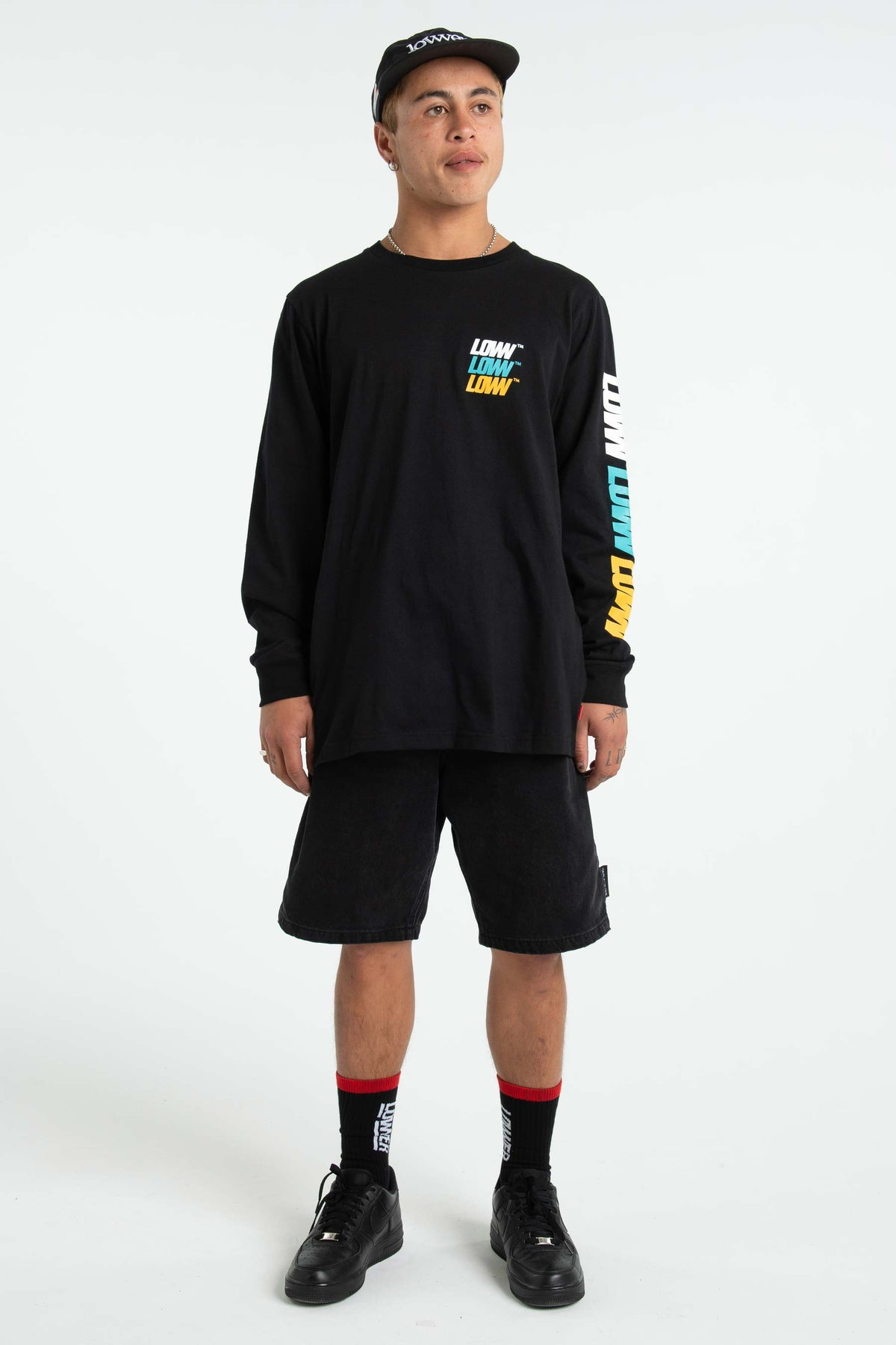 Mens QRS L/S Tee - Low Stack - Black