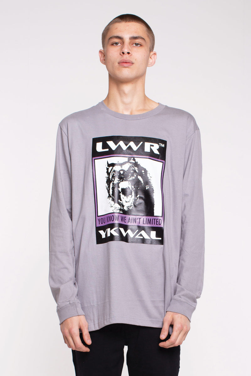 QRS L/S- Mad Dogg - Grey