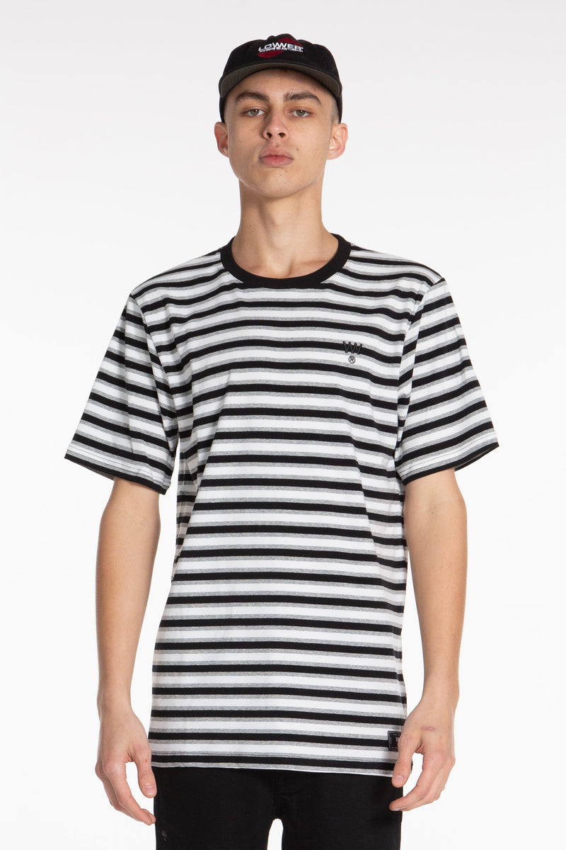 Triple U Stripe QRS Tee - Black/Grey