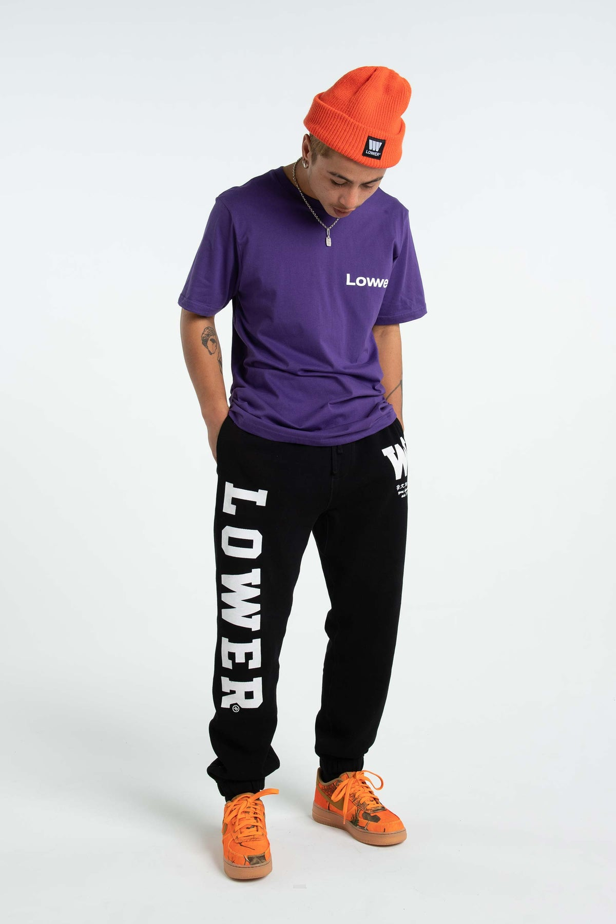 Mens QRS Tee - Lowcase - Purple