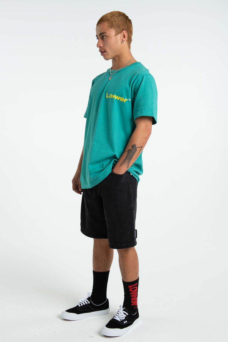 Mens QRS Tee - Lowcase - Teal