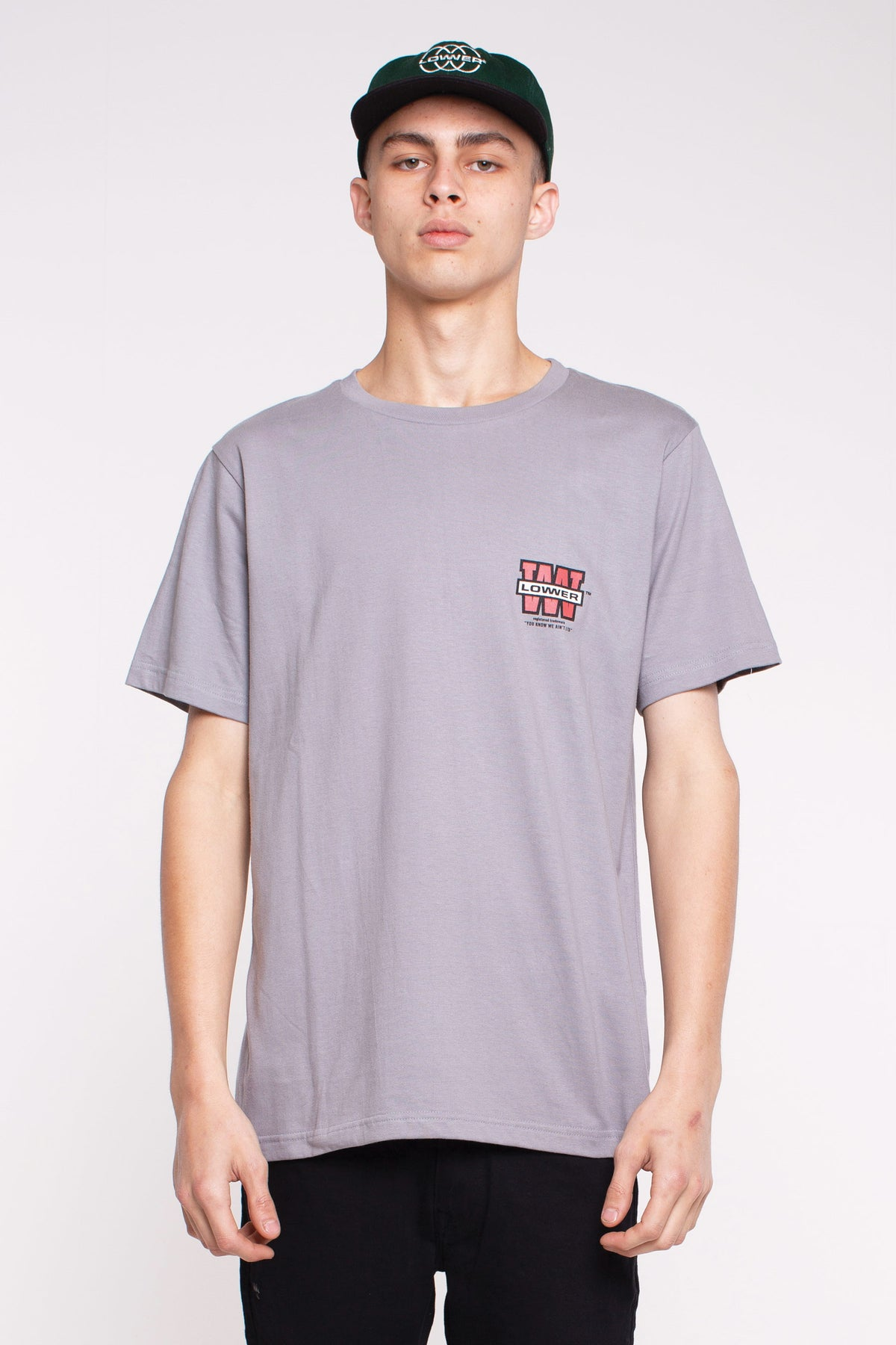 QRS Tee - Triple Stack - Grey