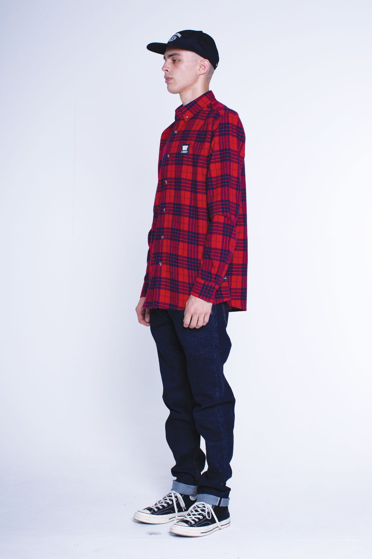 Mens Raf Shirt - LoTown- Red/Navy