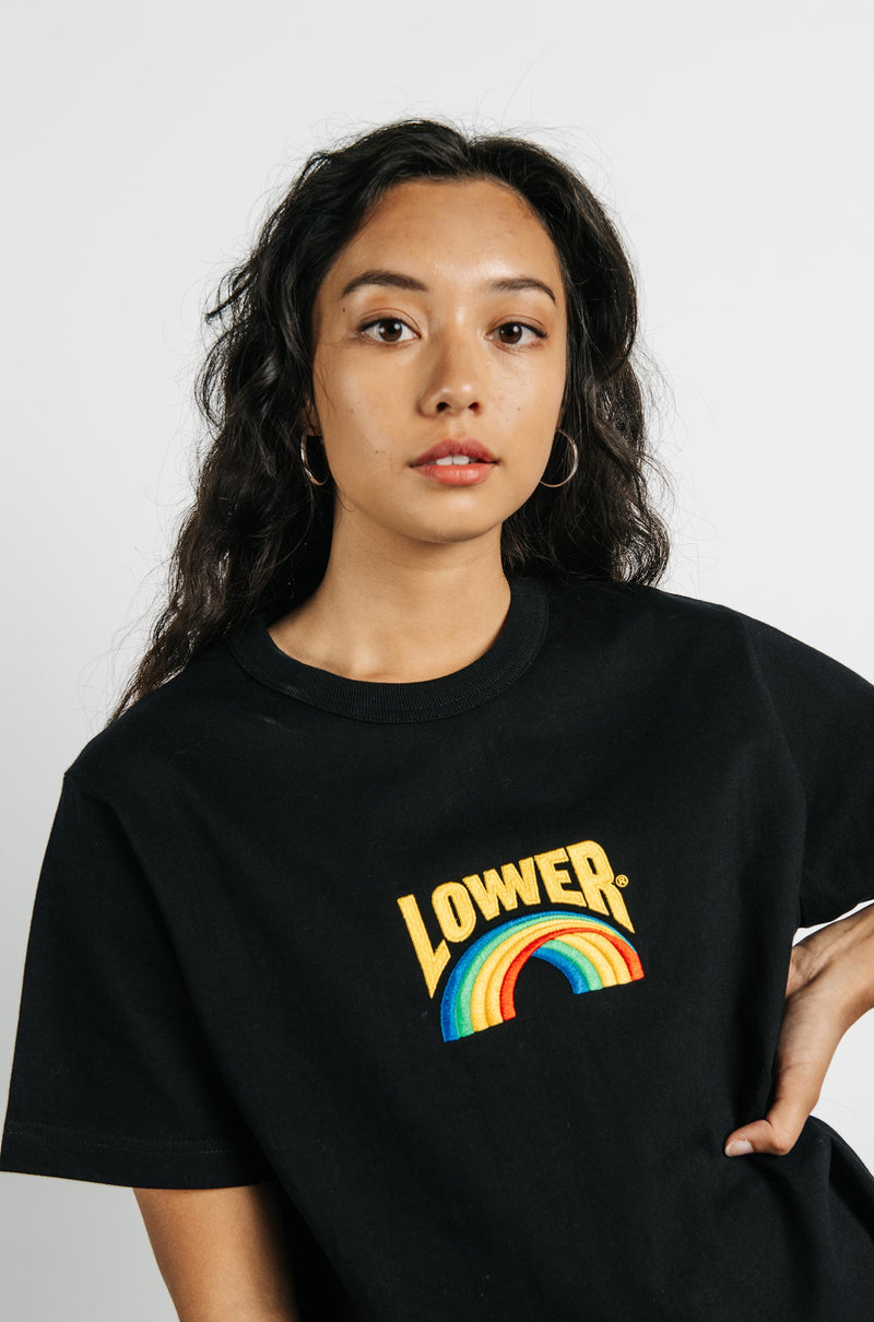 Channel Tee - Rainbow - Black
