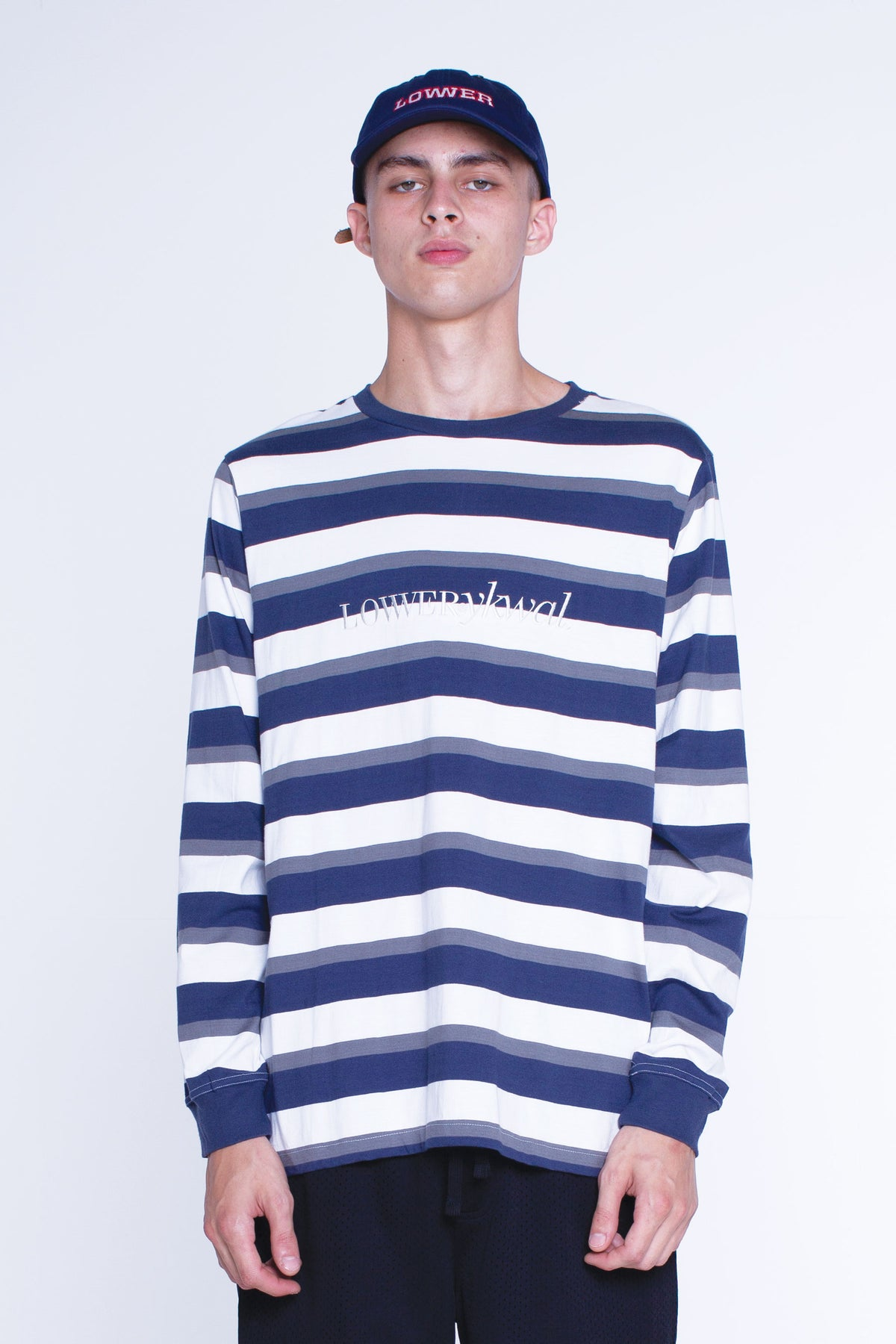 Mens Rail L/S Tee - Times - Navy/Grey/White