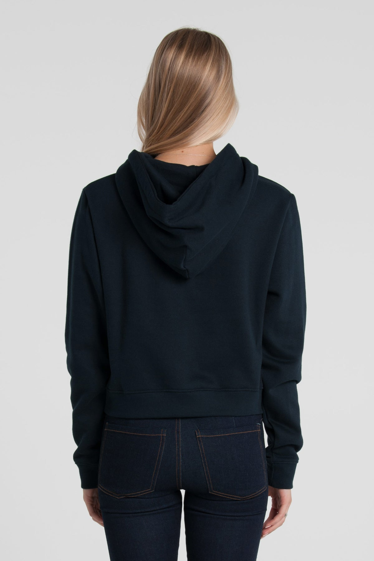 Roman Cropped Grace Hood - Navy