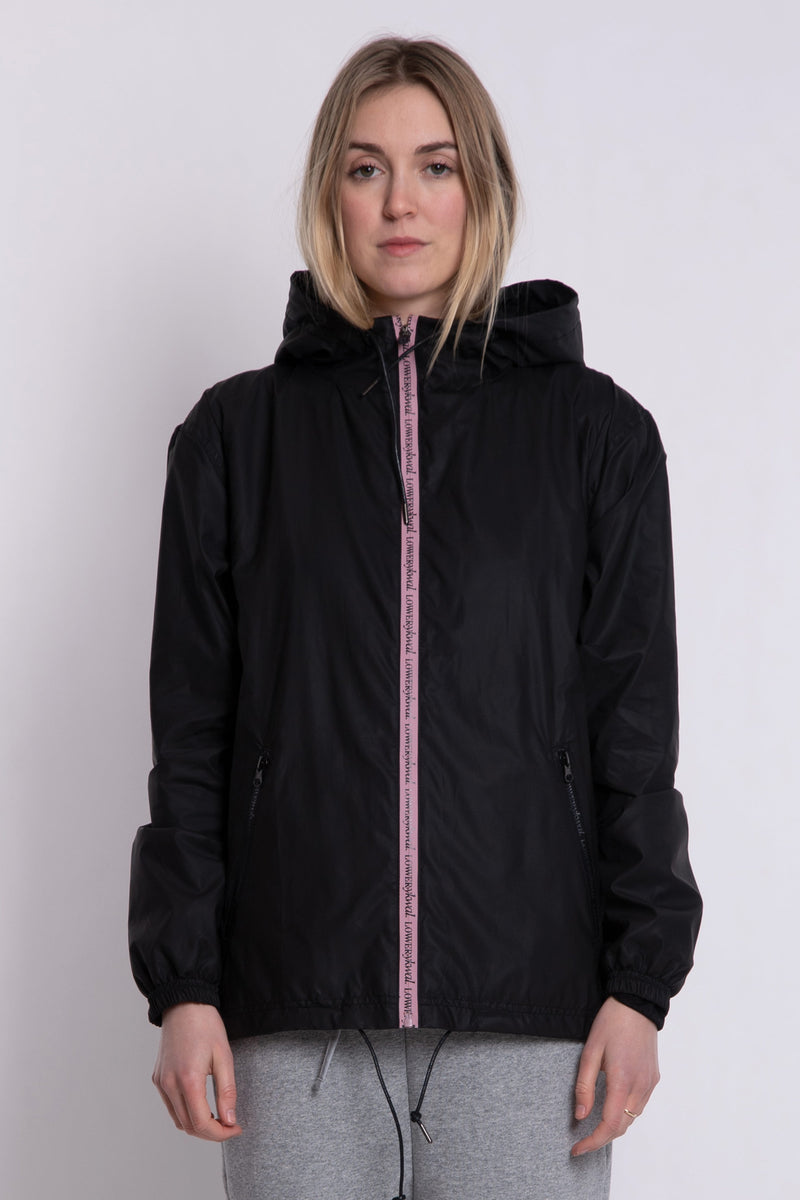 Sal Rain Jacket - Black/Pink