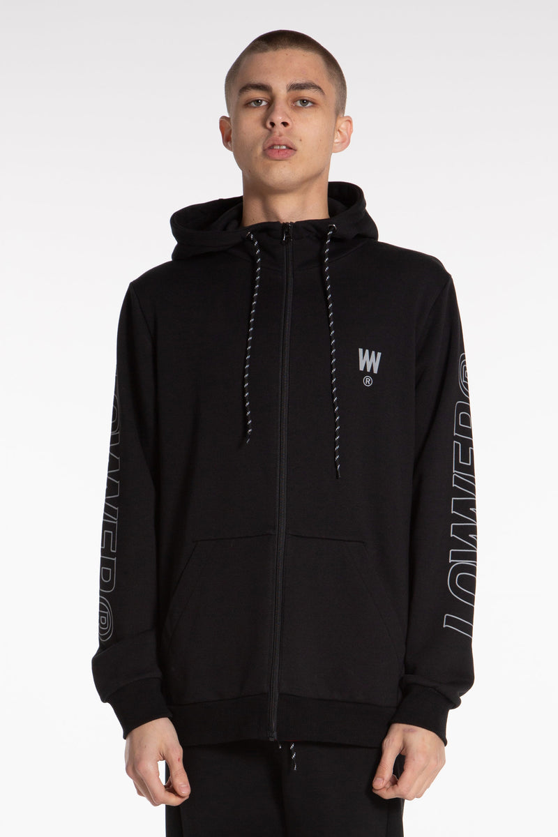 Charger Outline Sideline Zip Hood - Black