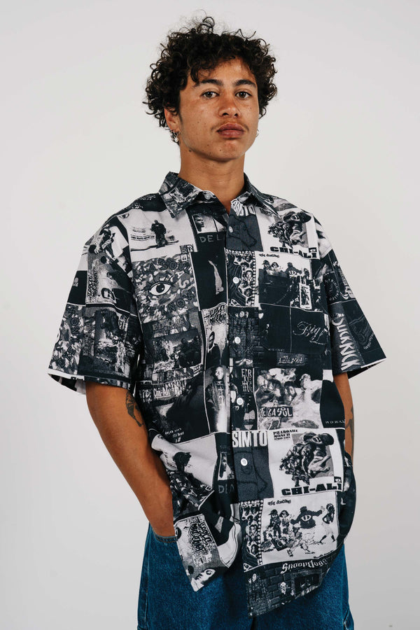 S/S Shirt - Stack - White/Black