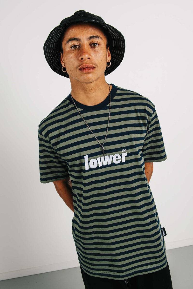 Standard Tee - Low Lock - Navy/Green