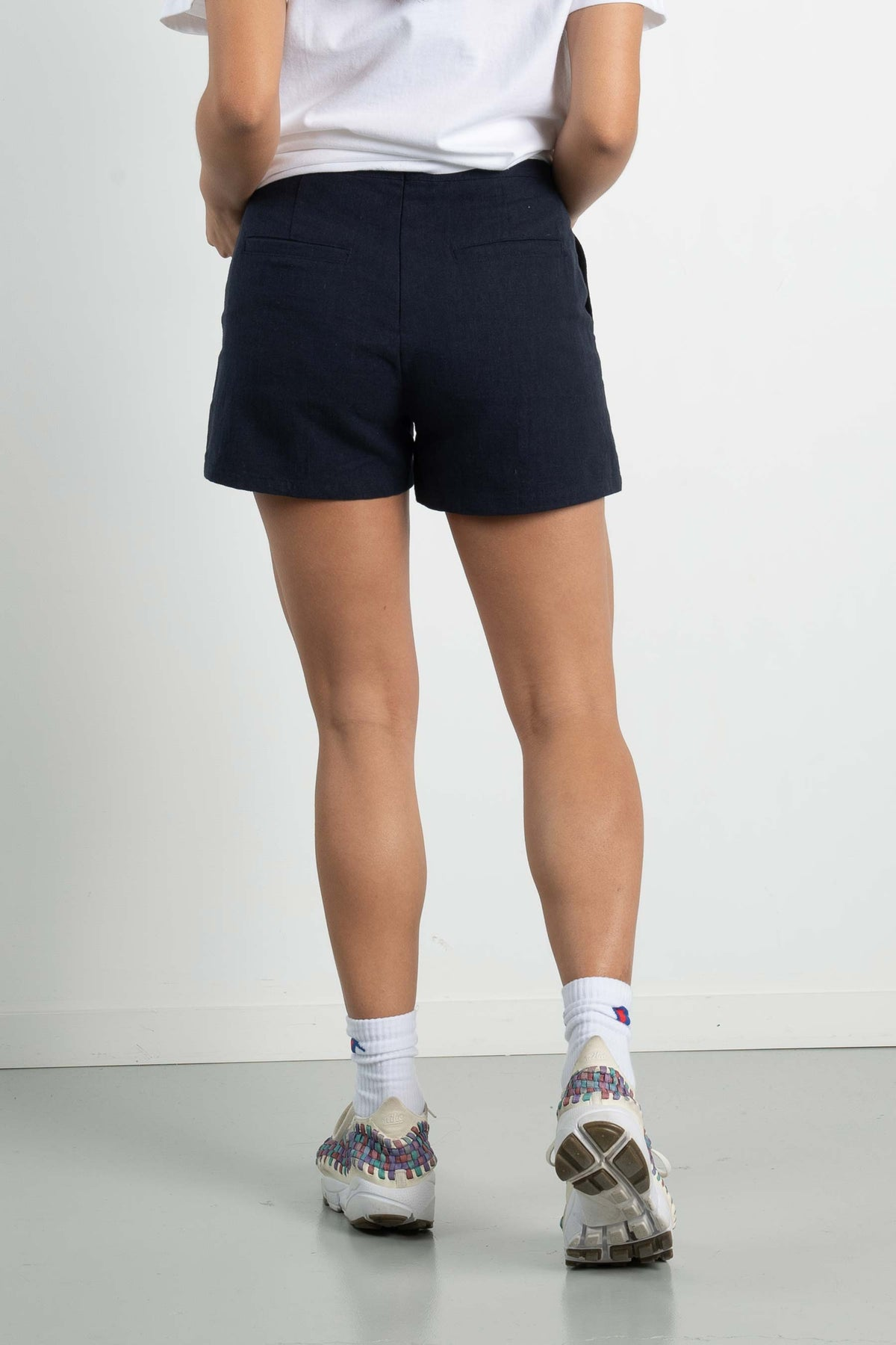 Womens Safari Shorts - Navy