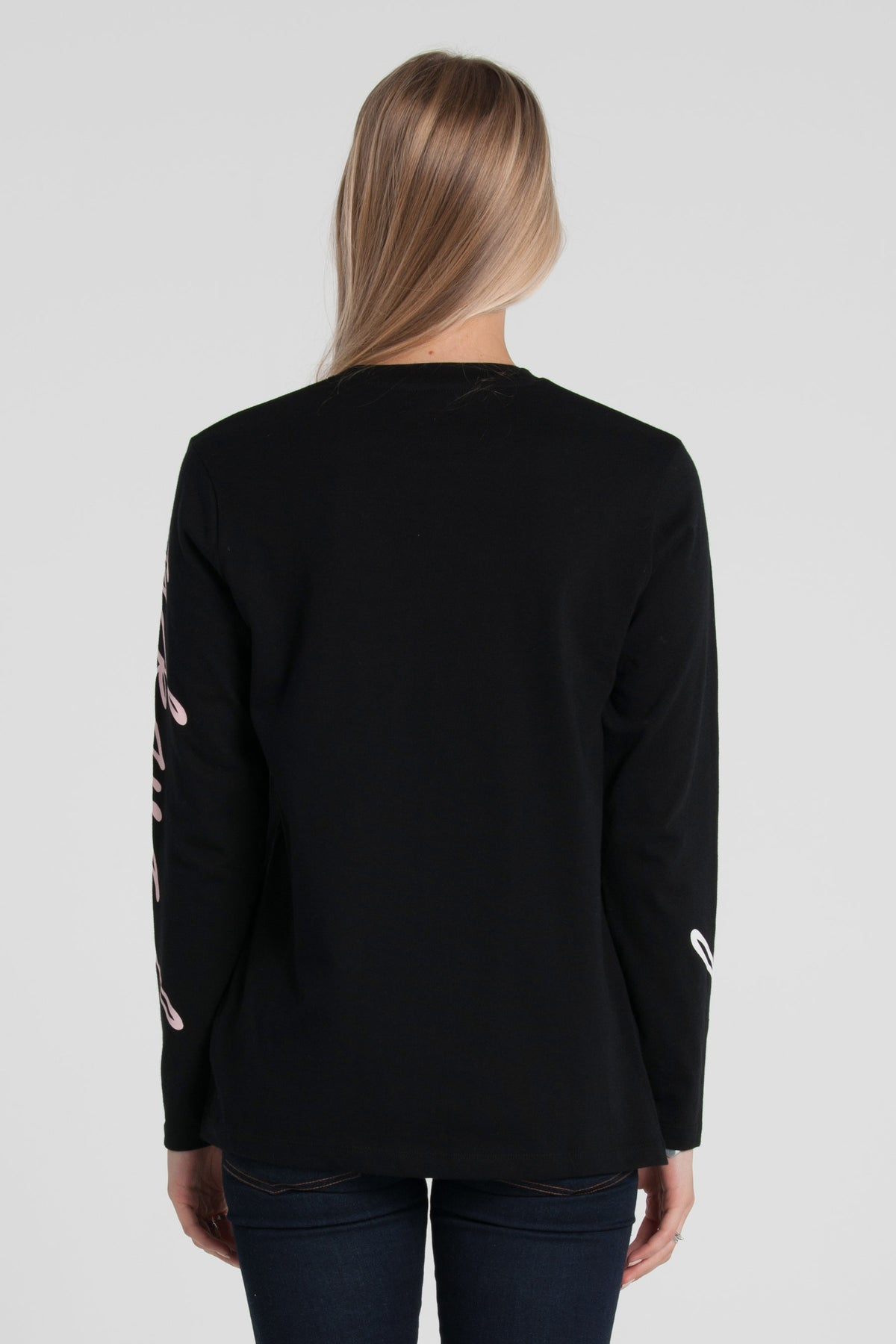 Scribble Relax Long Sleeve - Black