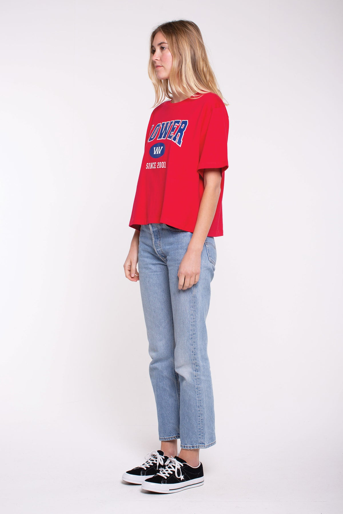 Semester Cropped Tee - Red