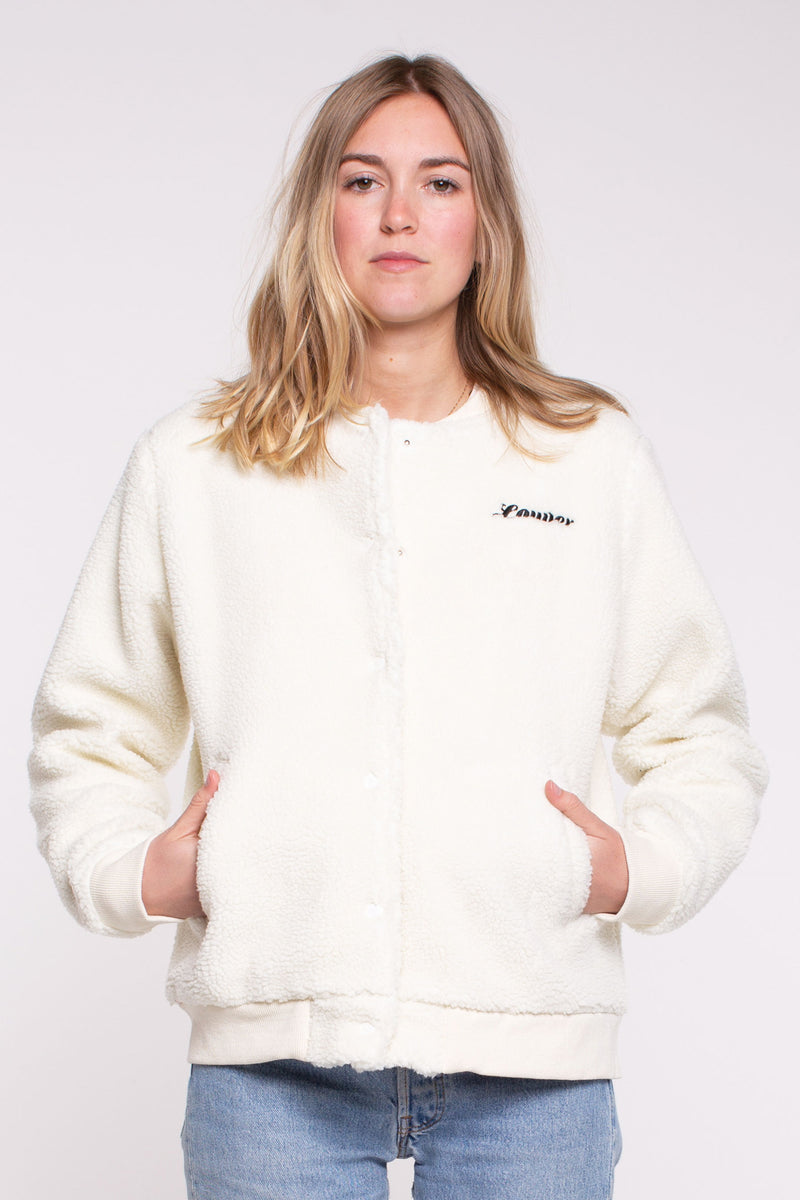 Sherpa Bomber Jacket - Cream