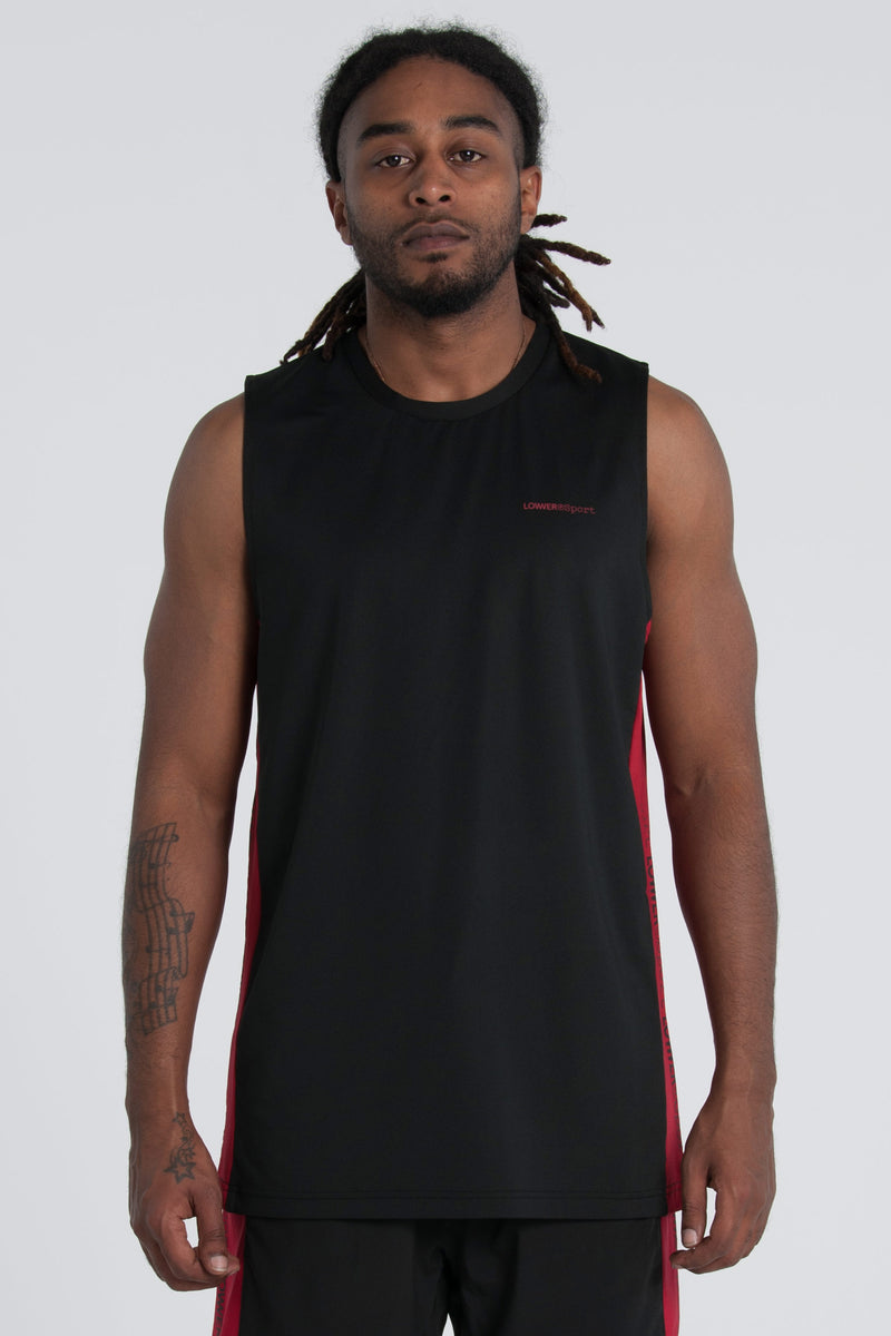 Hook Shot Side Panel Tank - Black/Red