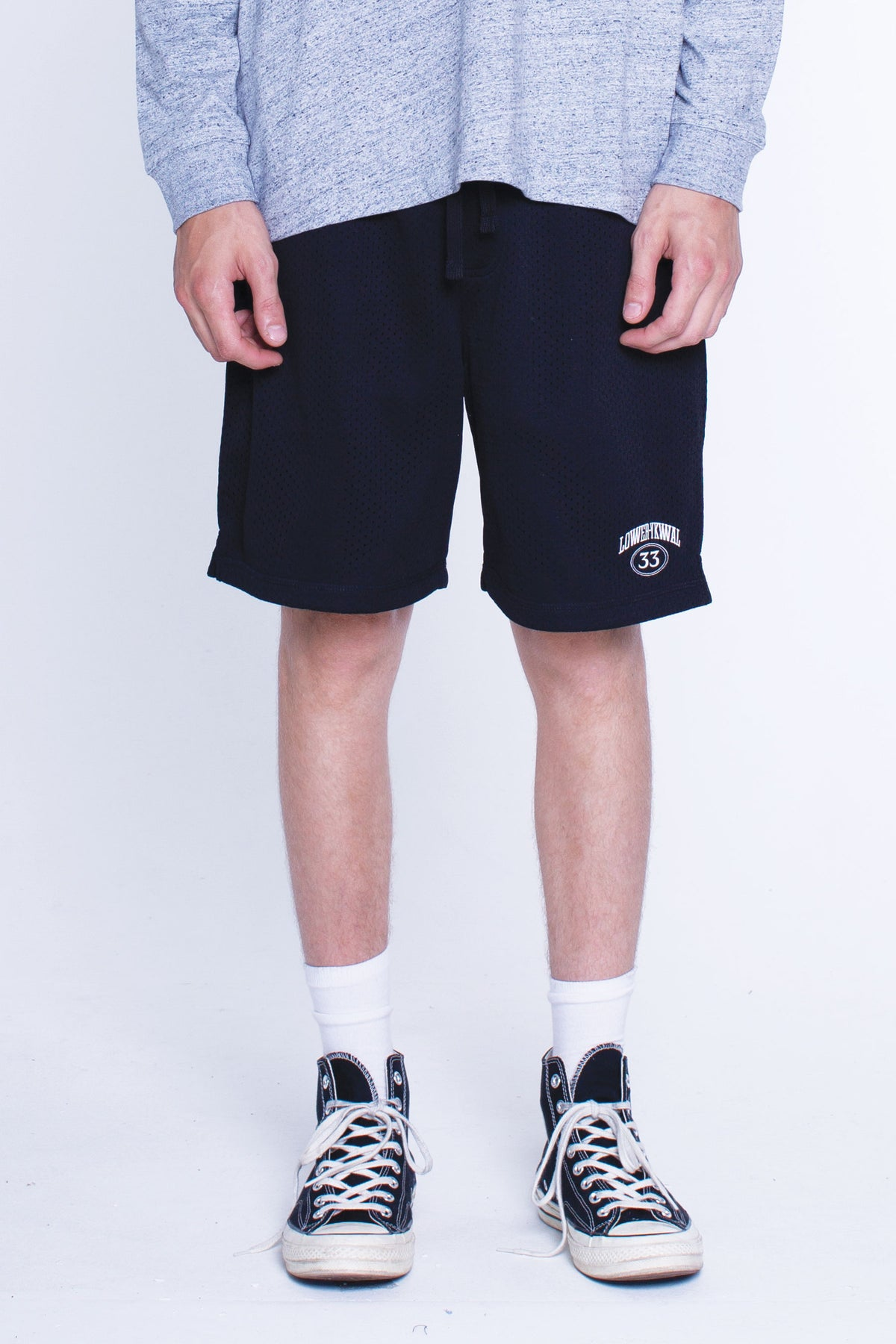 Mens Snell Shorts - Hoop Dreams - Black
