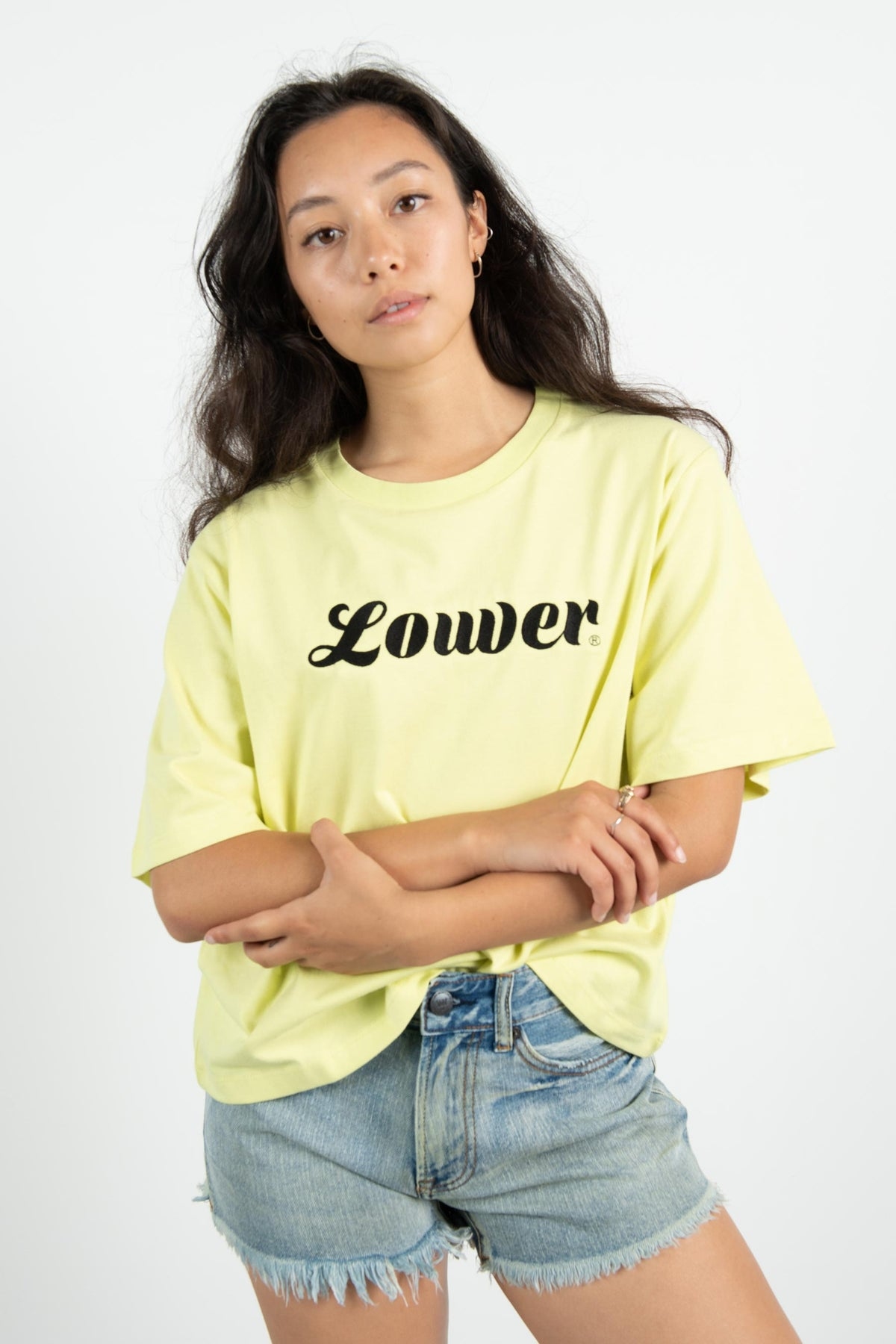 Womens Crop Tee - Swift - Yellow