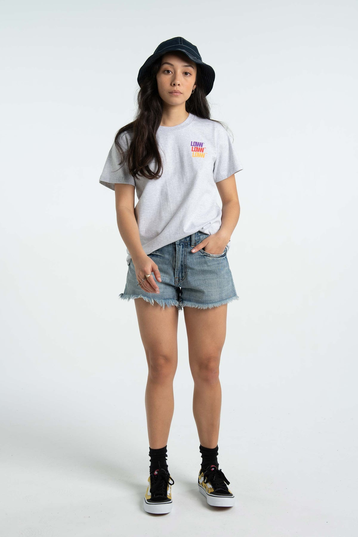 Womens Active Tee - Lo Stack - Silver