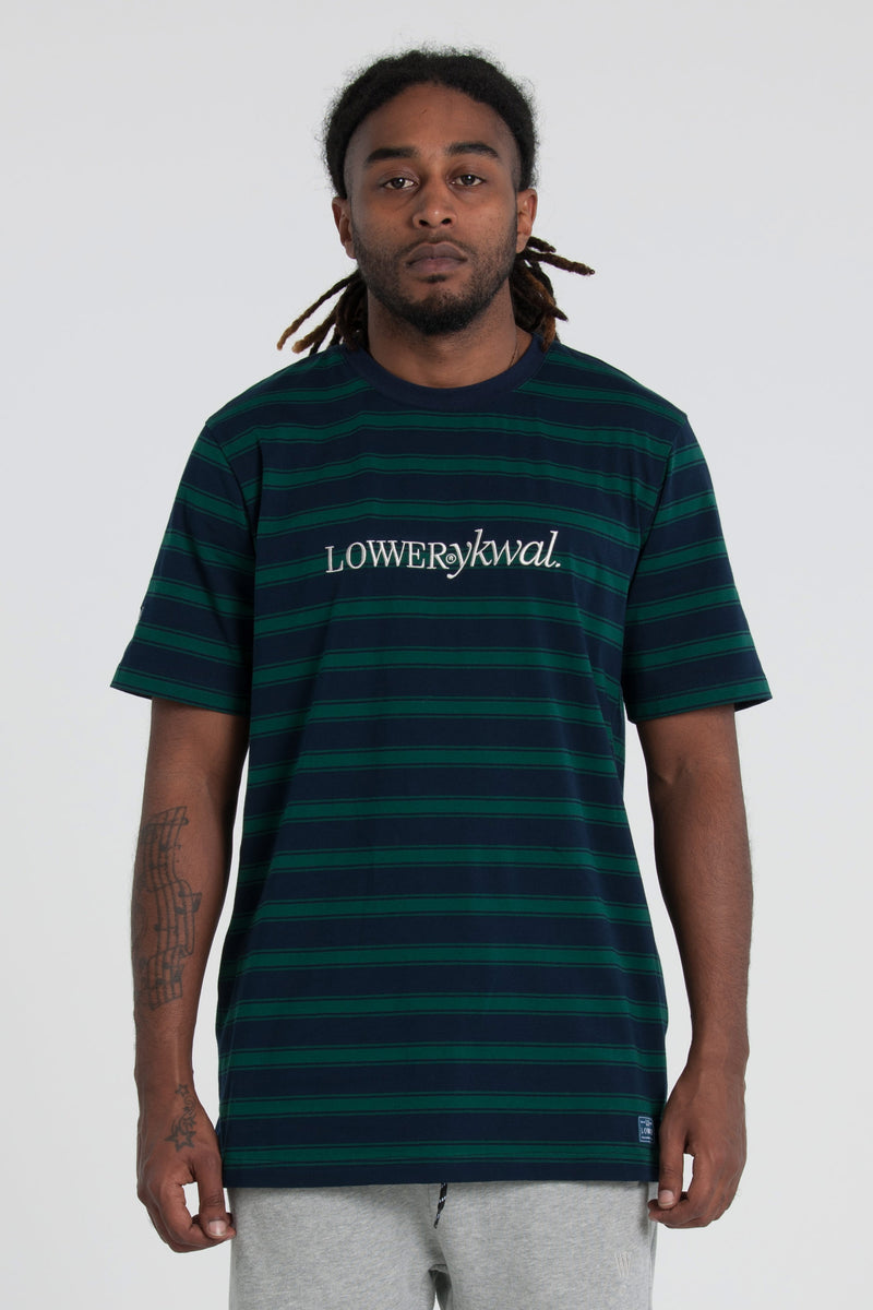 Times QRS Tee - Navy/Green Stripe