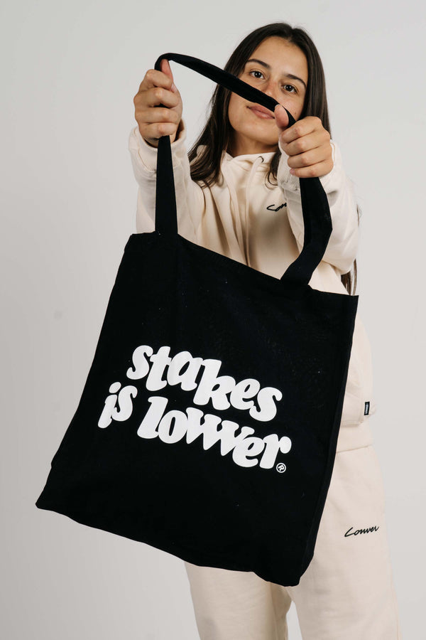 Tote Bag - Stakes - Black