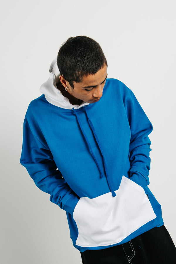 Set Hood - UCLWR - Royal Blue/White Panels
