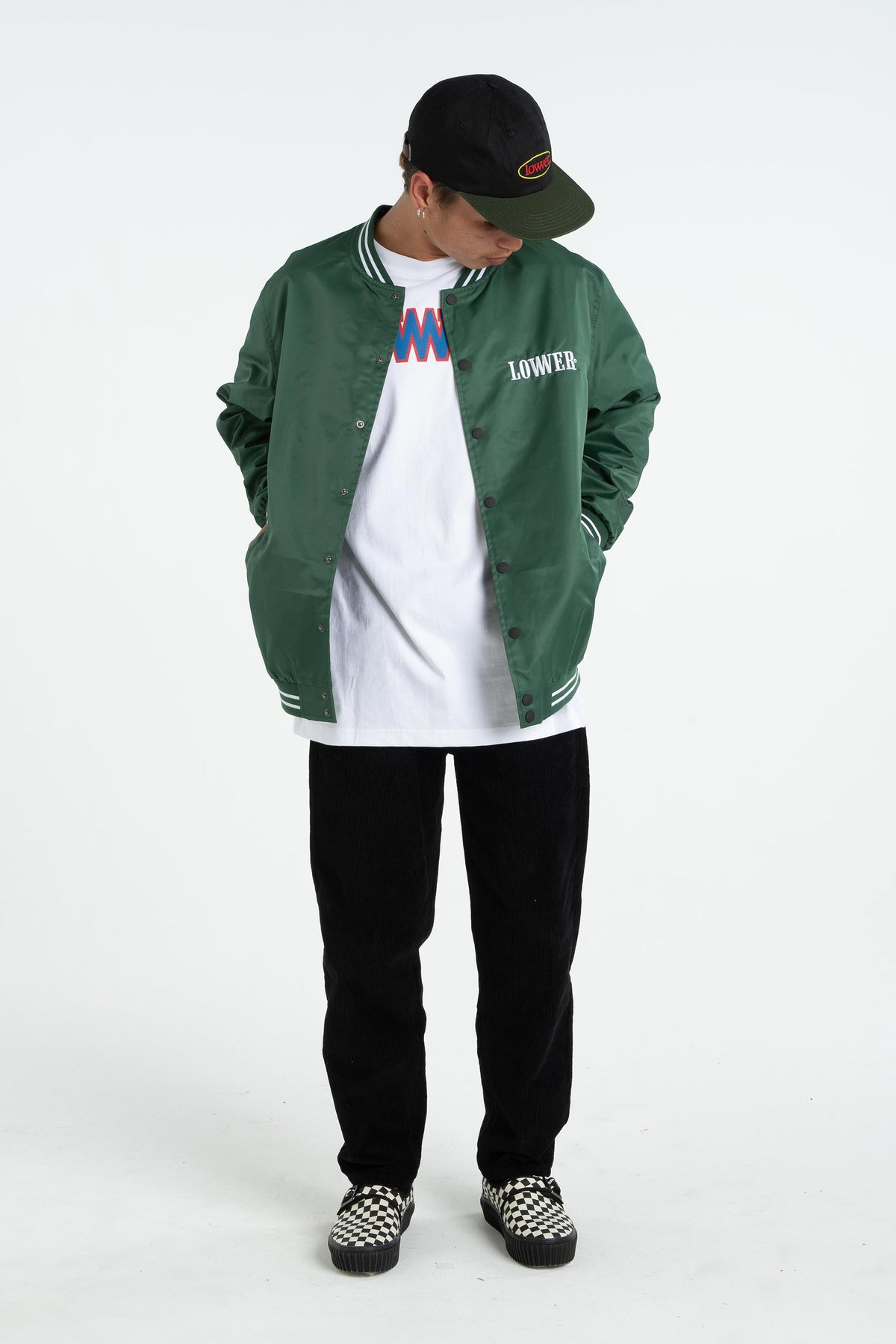Mens Varsity Jacket - Boro - Green