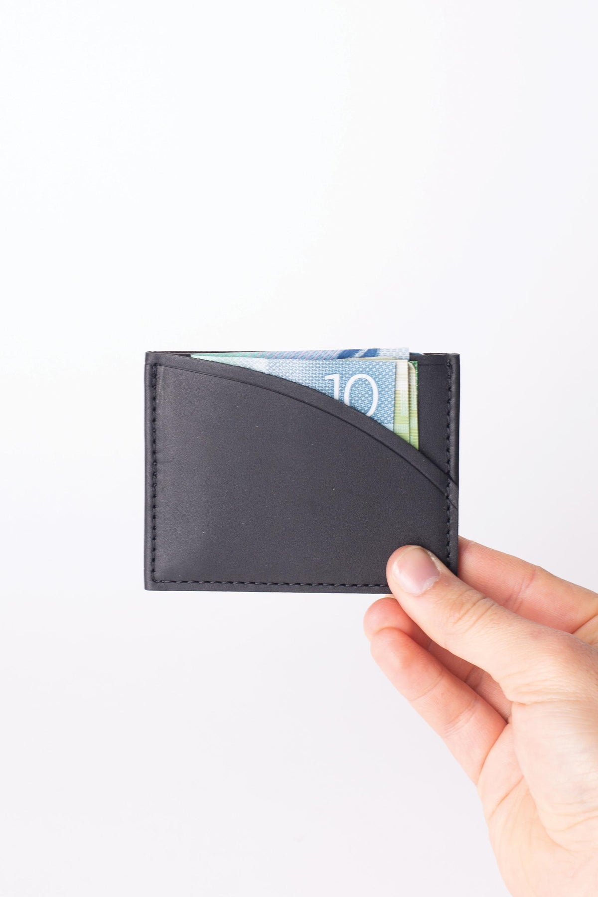 Leather Slip Wallet - Black