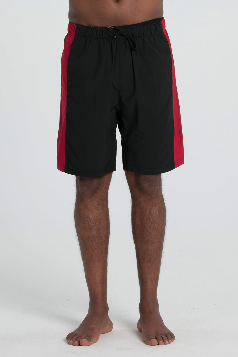 Hook Shot Court Short - Black/Red